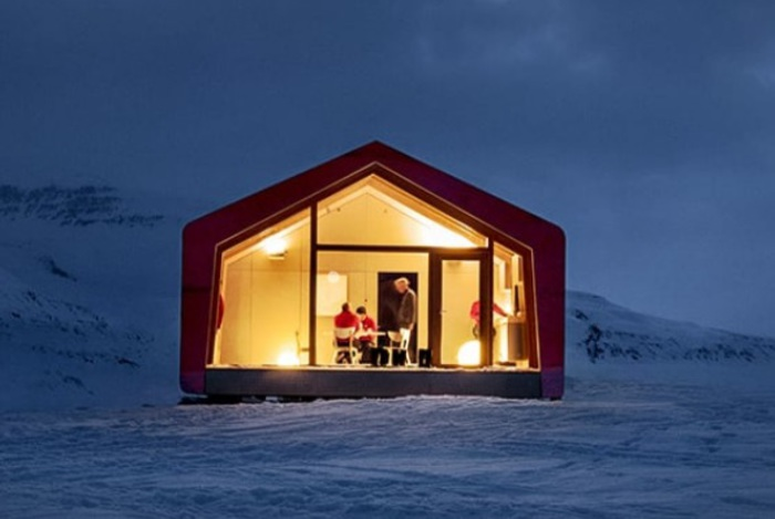 Una casa modulare per i ricercatori in Groenlandia