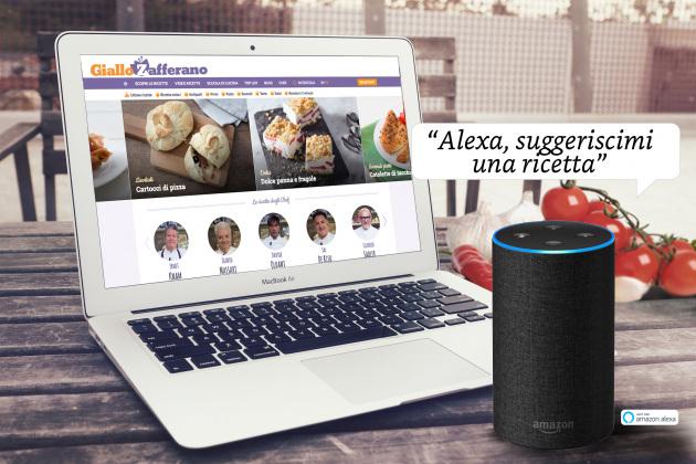 Gli Echo di Amazon sono arrivati in Italia e grazie a GialloZafferano ti aiutano in cucina