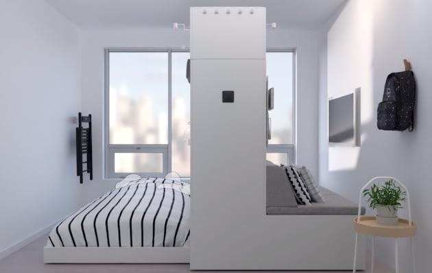 L'armadio robotico che sfrutta gli spazi nel monolocale