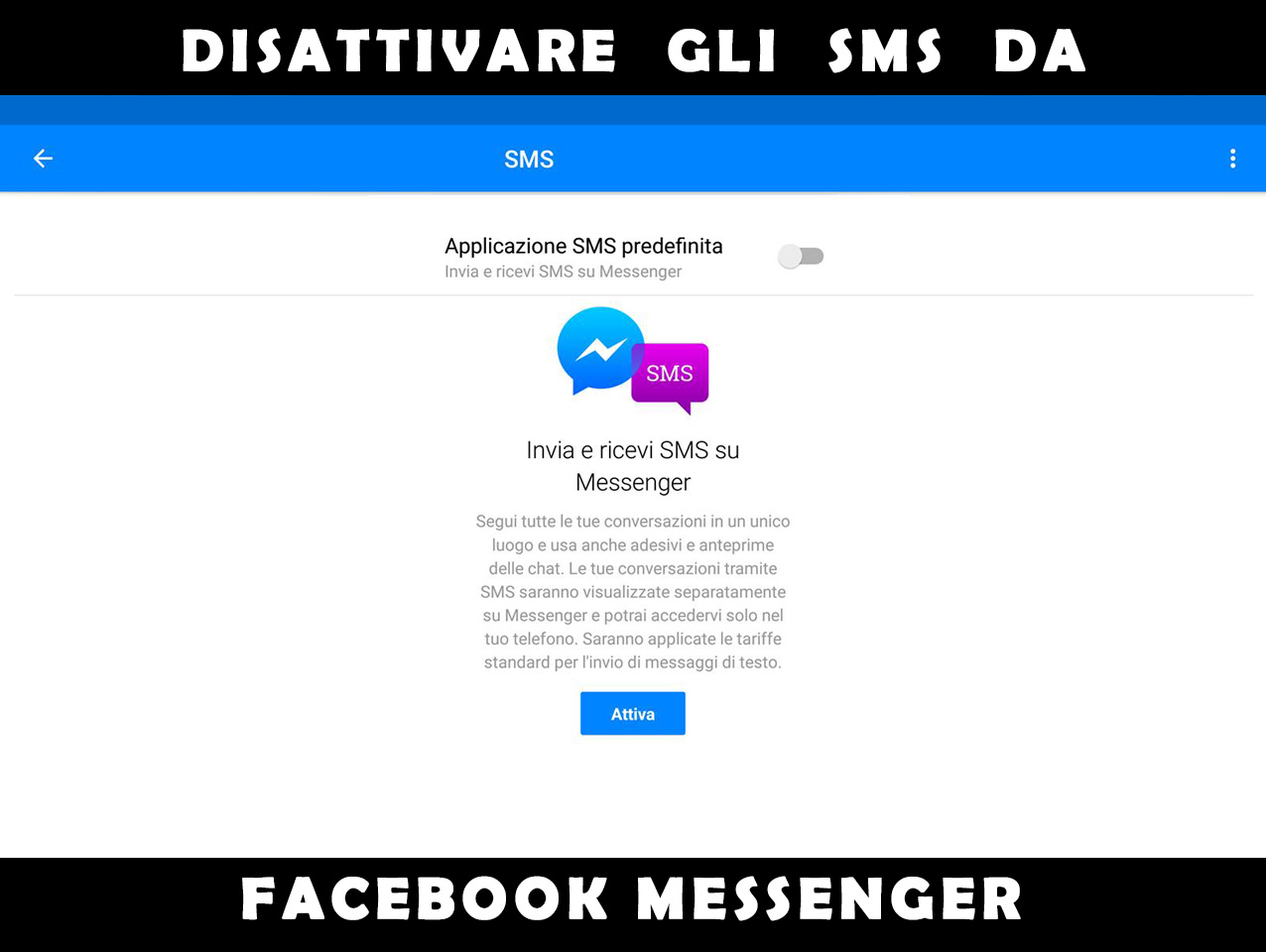 Come rimuovere gli SMS da Facebook Messenger