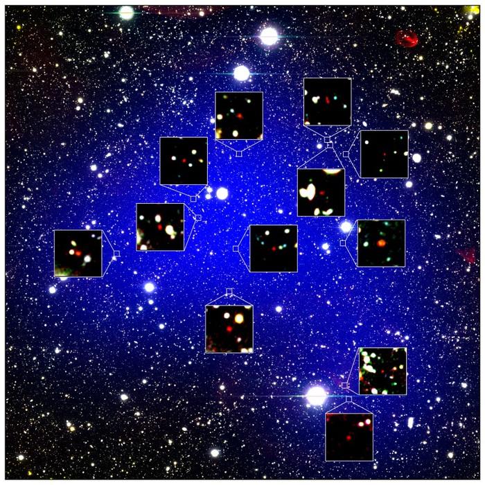 Le 12 galassie più antiche mai viste
