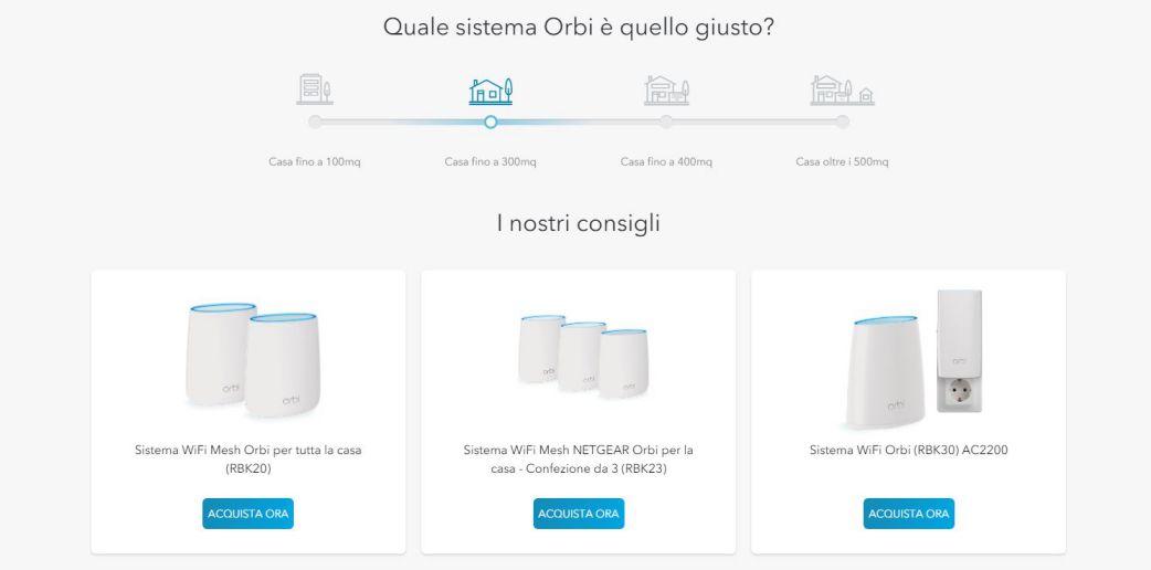 Scegliere il modello giusto di Netgear ORbi