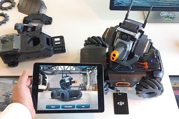 home page dell'app S1 per la gestione di RoboMaster S1 - ph. credits: Matteo Dall'Ava