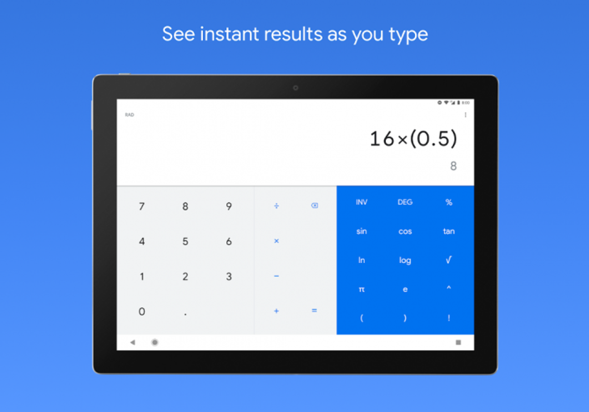 Calcolatrice Google festeggia i 500 milioni di installazioni da Play Store