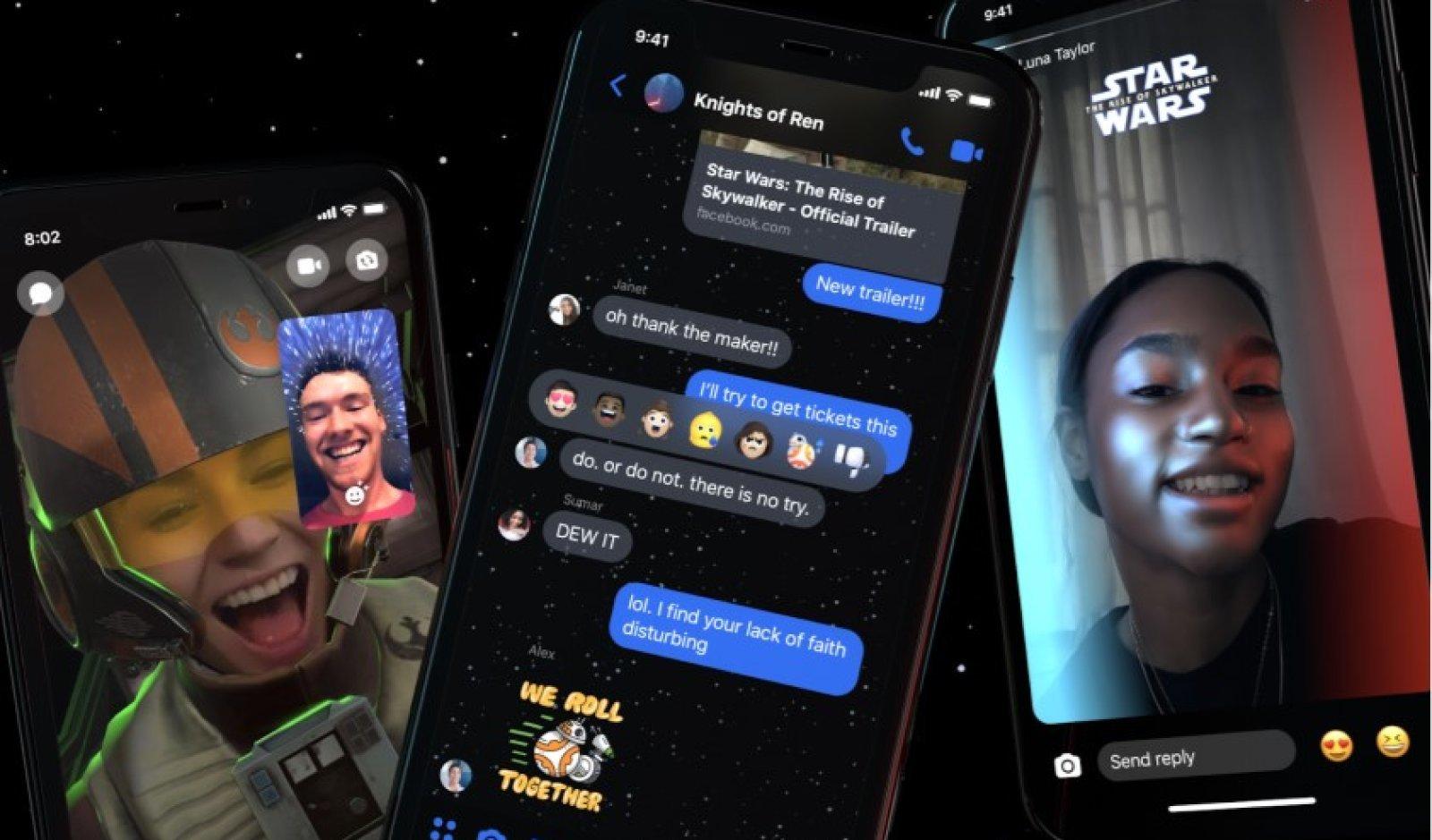 Chat a tema Star Wars su Messenger: come ottenere sticker e filtri