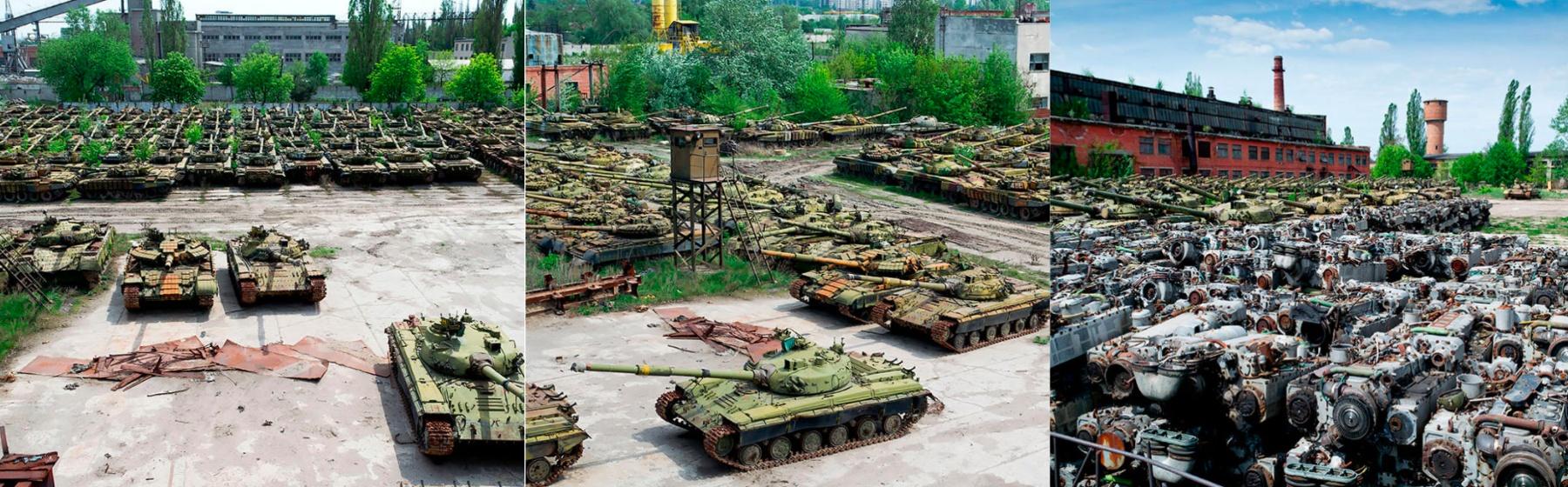 Ecco com'è fatto un cimitero di carri armati
