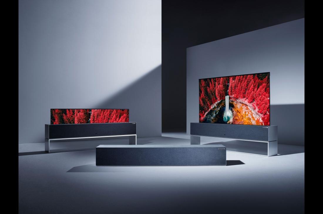 Lg presenterà la tv oled arrotolabile che scende dal soffitto