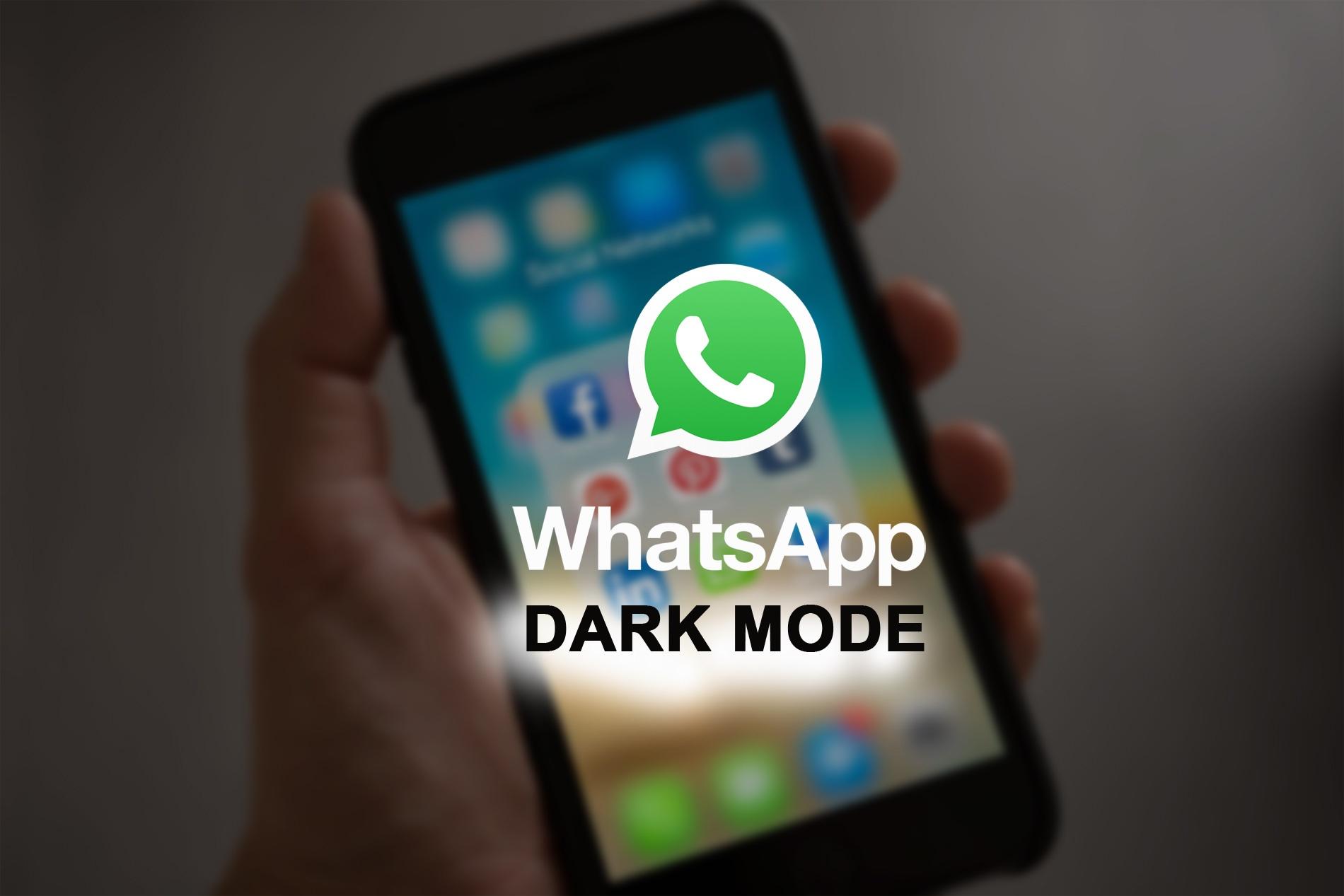 WhatsApp nero/black, tema scuro disponibile per android