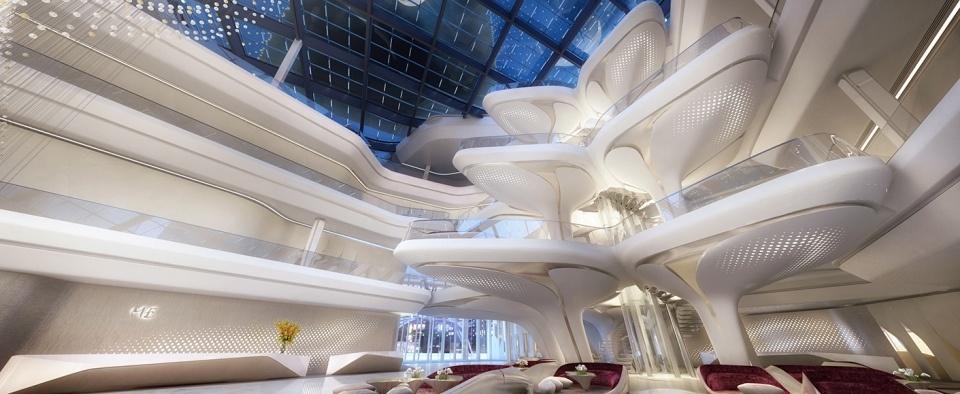 A Dubai, nell'hotel progettato da Zaha Hadid