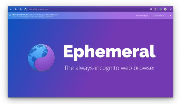 Ephemeral browser incognito