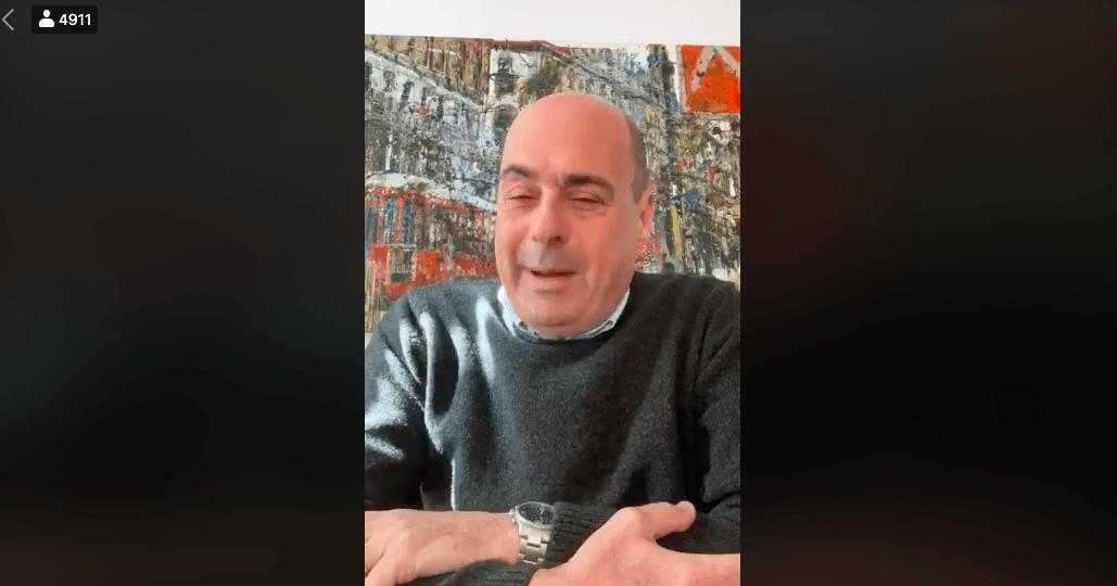 Il segretario del Pd Nicola Zingaretti ha detto di essere positivo al coronavirus