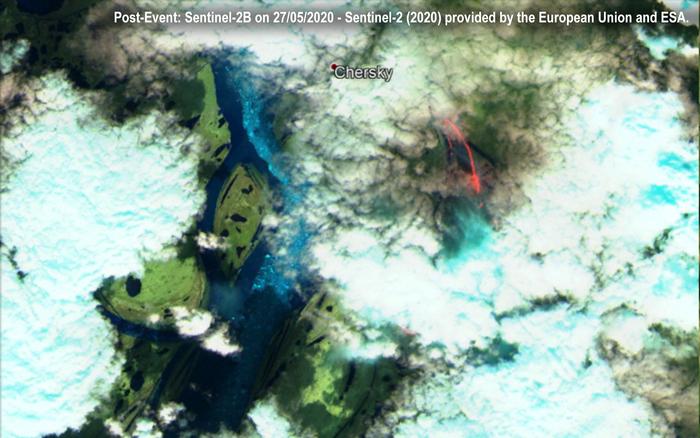 L'incendio in Siberia visto dai satelliti