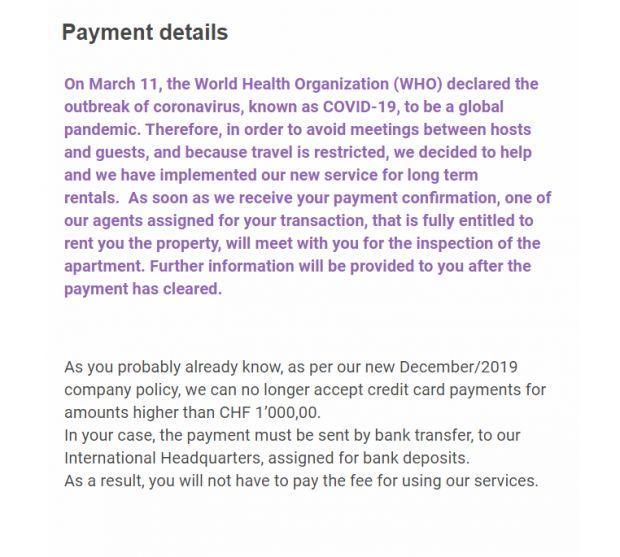 dettagli di pagamento