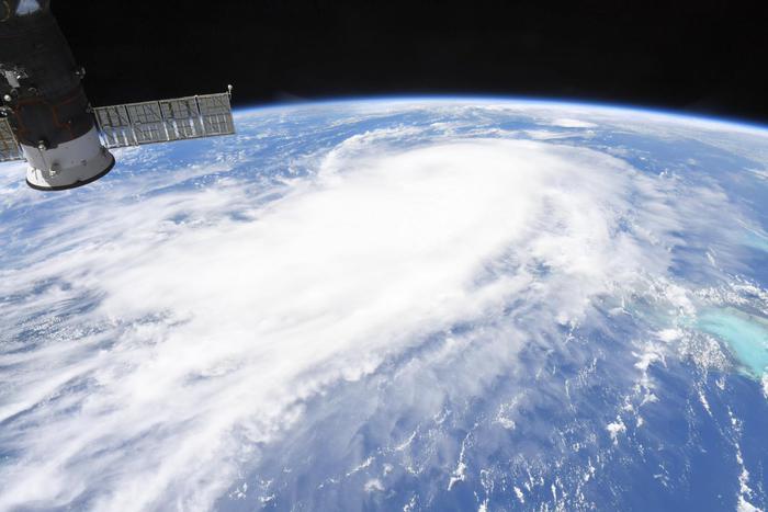 L'uragano Laura su Louisiana e Texas visto dallo spazio