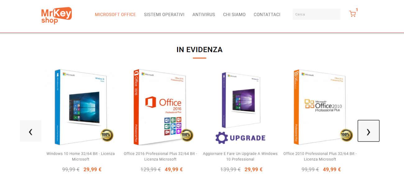 Mr Key Shop: risparmiare con software e licenze Microsoft ricondizionate
