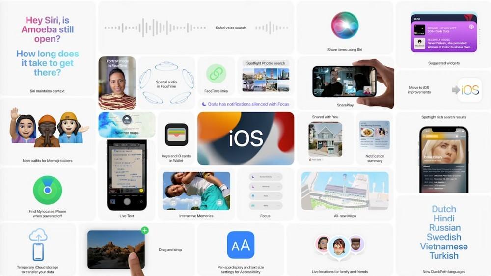 Apple rilascia le beta 2 developer di iOS/iPadOS/tvOS 15 e watchOS 8