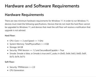 Windows 11, Microsoft cambia idea sui requisiti: solo sistemi recenti